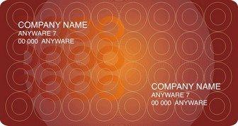 Шаблон визитки 5 дизайнерские