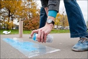 Трафареты для рекламы на асфальте