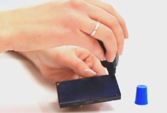 как заправить штамп чернилами