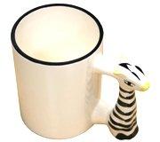 белая с ручкой в виде жирафа