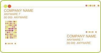 Шаблон визитки 6 дизайнерские